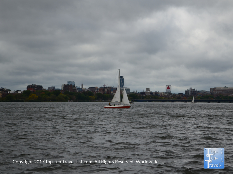 Sailing on the Charles River in Cambridge