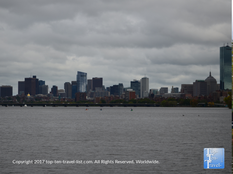 Views of the Boston skyline from a Charles riverboat cruise