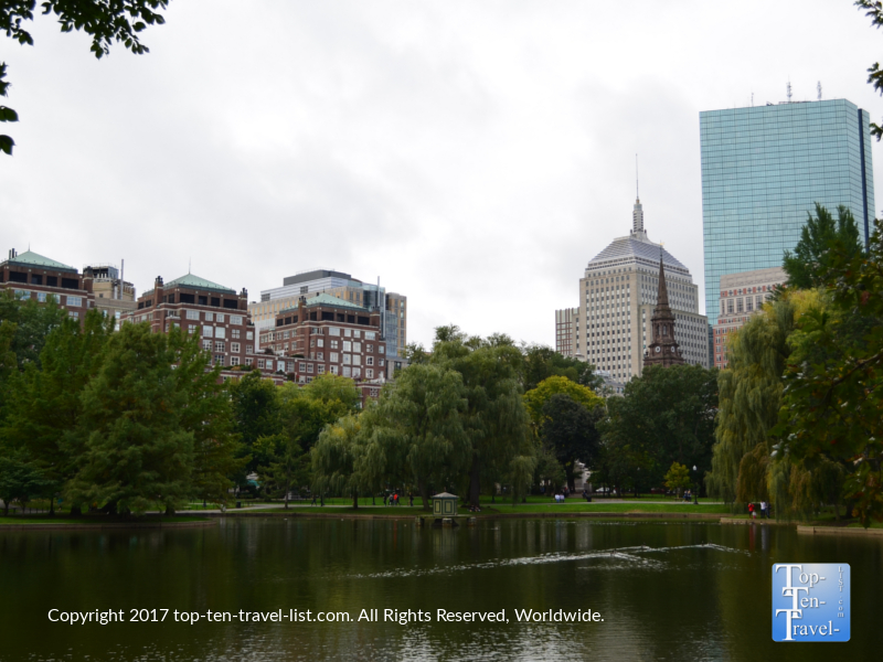Pretty views of Boston's architecture from the Public Garden