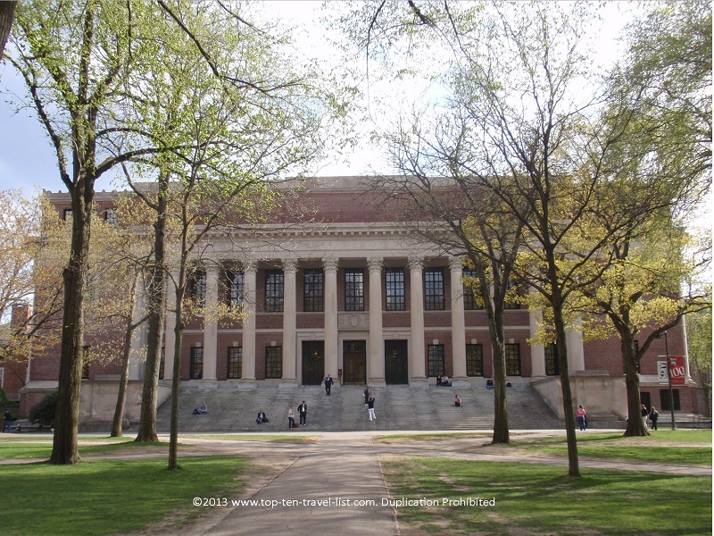 Widener library at Harvard University