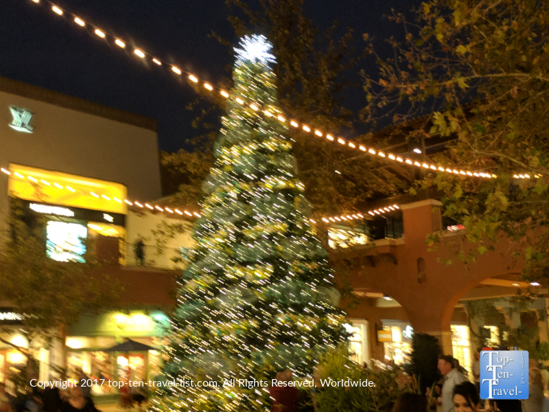 Enchanted snowfall at the La Encatada mall in Tucson