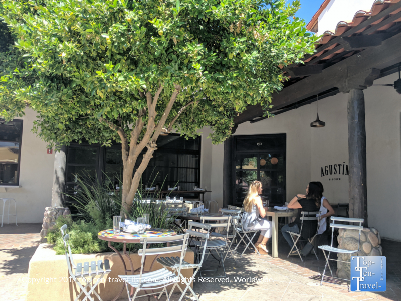 Great patio dining at Mercado San Agustin in Tucson, Arizona