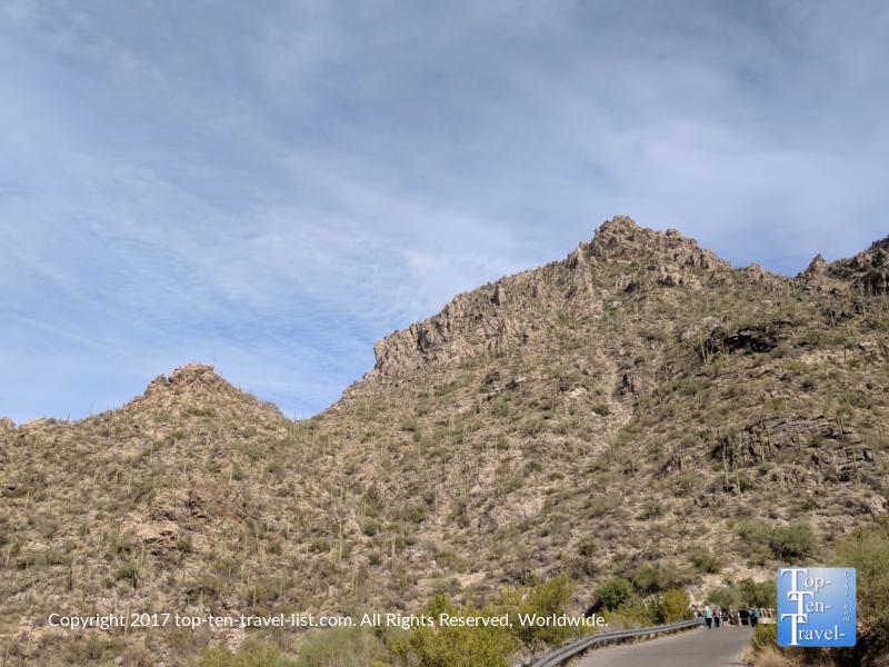 Walking path at Sabino Canyon in Tucson, Arizona