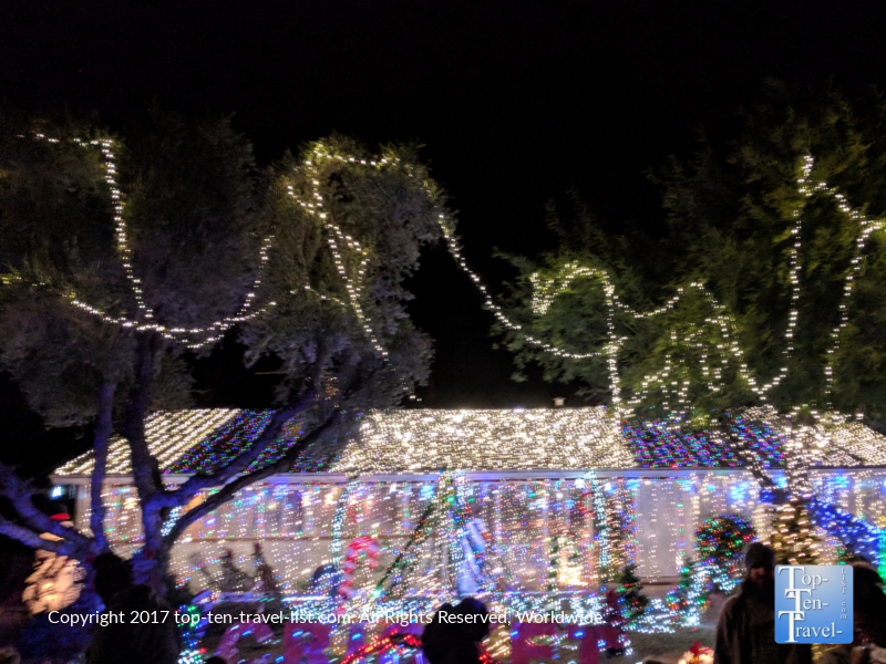 Decked out house at the Winterhaven Festival of Lights in Tucson