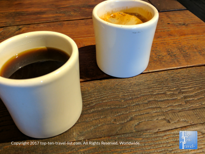 Delicious Americano and drip coffee at Exo Roast in Tucson, AZ
