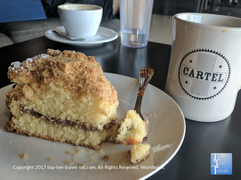 Delicious coffee cake at Cartel Coffee Lab in Tucson, AZ