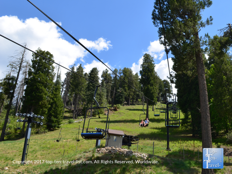 Summer chairlift ride at the Mt Lemmon Ski Resort