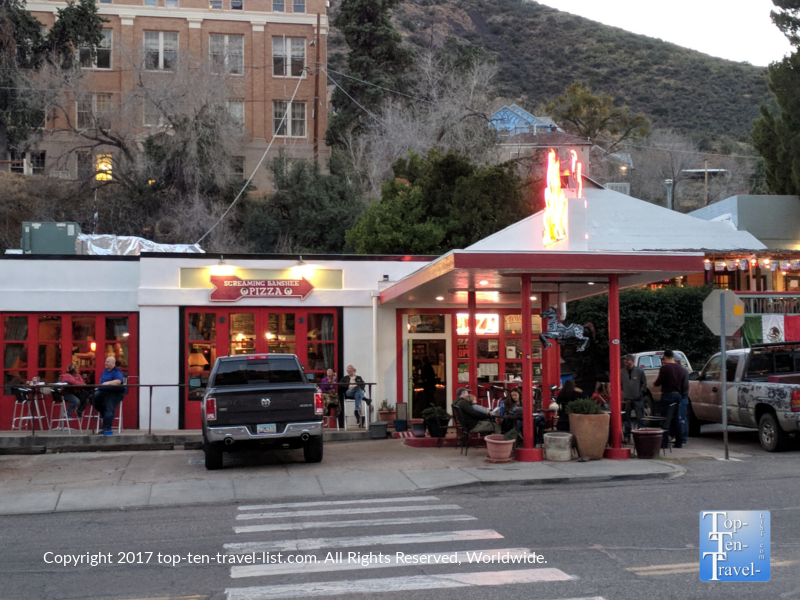 Screaming Banshee Pizza in Bisbee, Arizona