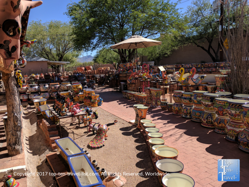 Unique shop selling Southwestern pottery in Tubac, Arizona