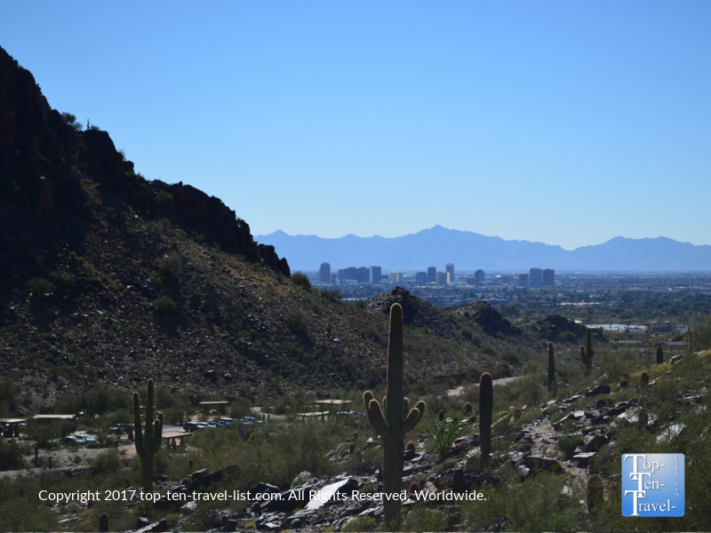 Views of the Phoenix skyline from the Piestewa Peak trail