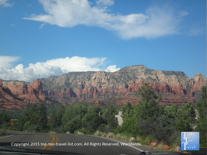 Amazing views from the Red Rock Scenic Byway in Sedona, Arizona