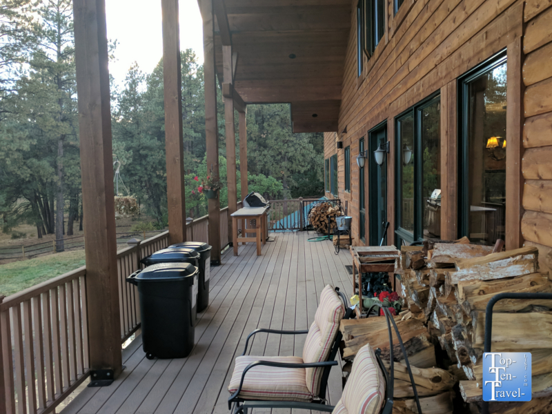 Beautiful patio of the Elk Trace B &B in Pagosa Springs, Colorado