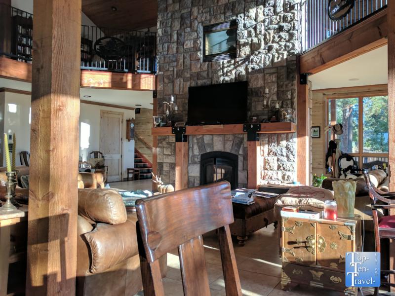 Cute rustic decor at the Elk Trace Inn B & B in Pagosa Springs, Colorado