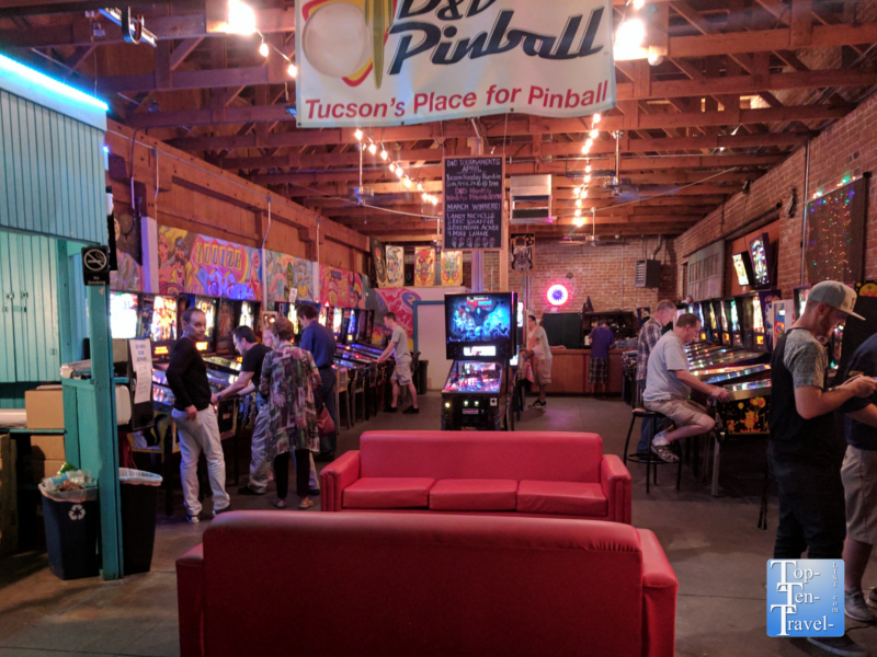 D and D Pinball in Tucson, Arizona