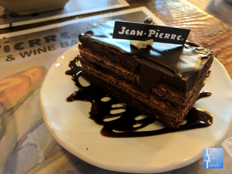 Decadent dessert at Jean Pierre Bakery in downtown Durango, Colorado