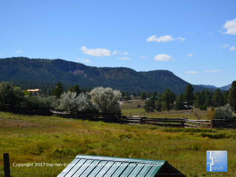 Pretty mountain scenery at Rocky Mountain Wildlife Park in Pagosa Springs, Colorado