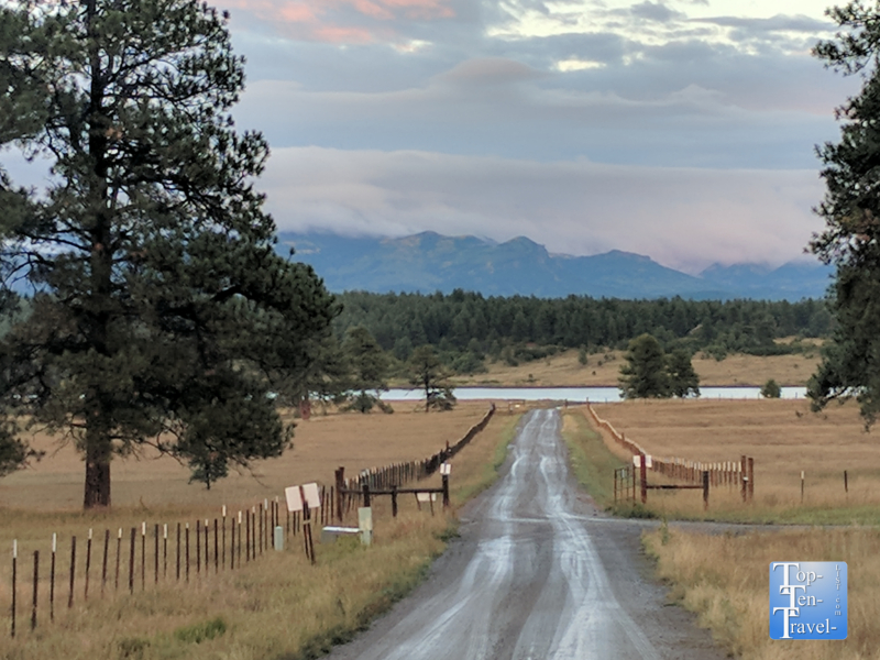 Pretty mountain scenery in Pagosa Springs, Colorado