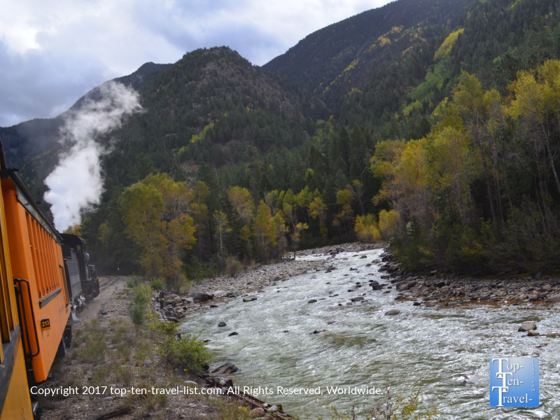 Pretty views of the river from the Durango & Silverton Narrow Gauge Railroad