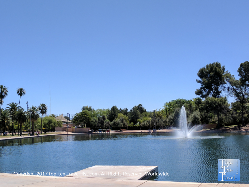 Pond at Reid Park in Tucson, Arizona
