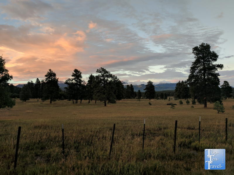 Serene sunset in Pagosa Springs, Colorado
