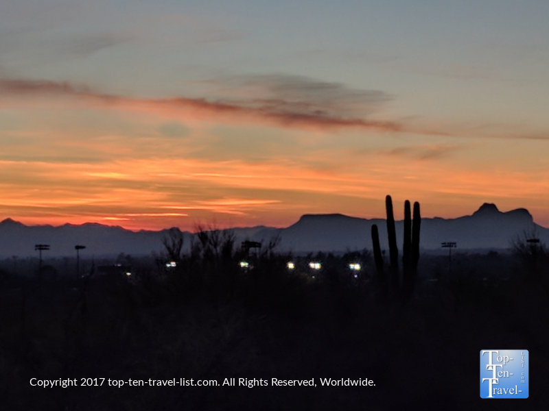 Beautiful sunset in Oro Valley, Arizona