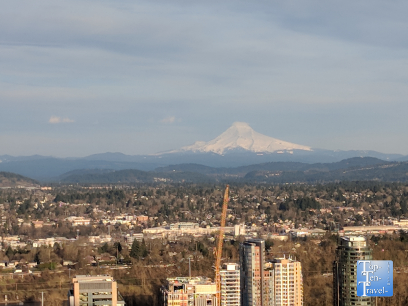 Great view of Mt Hood from the Portland Aerial tram ride