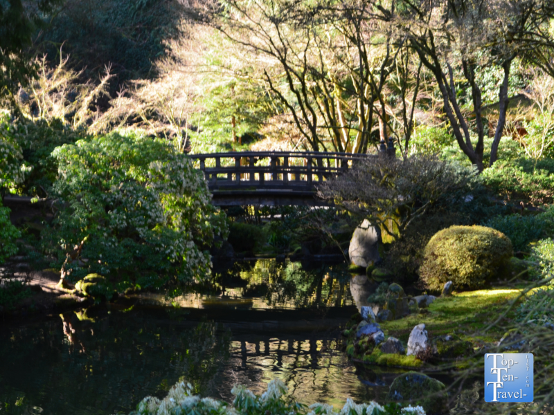 Moon bridge at the Portland Japanese Garden