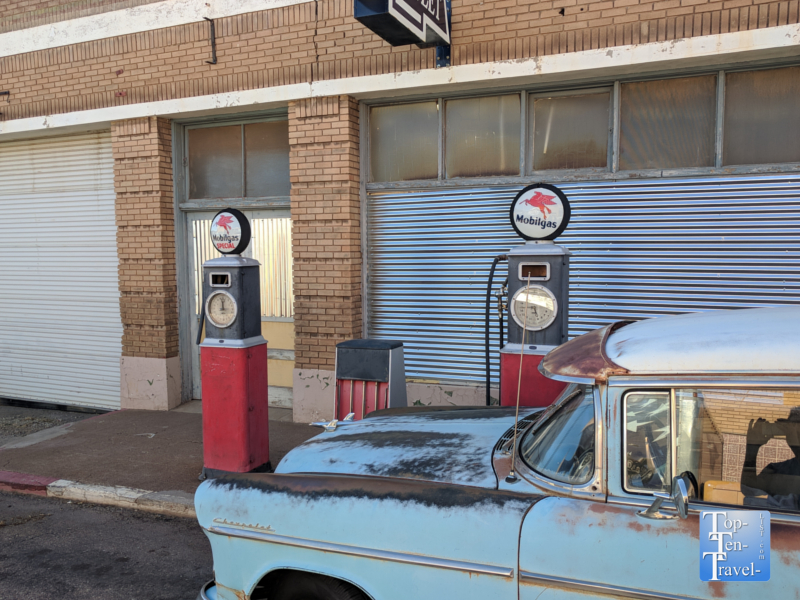 Abandoned gas station in the ghost town Lowell, Arizona