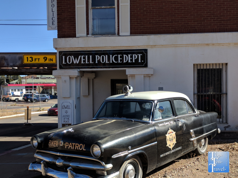 Old police station in ghost town Lowell, Arizona