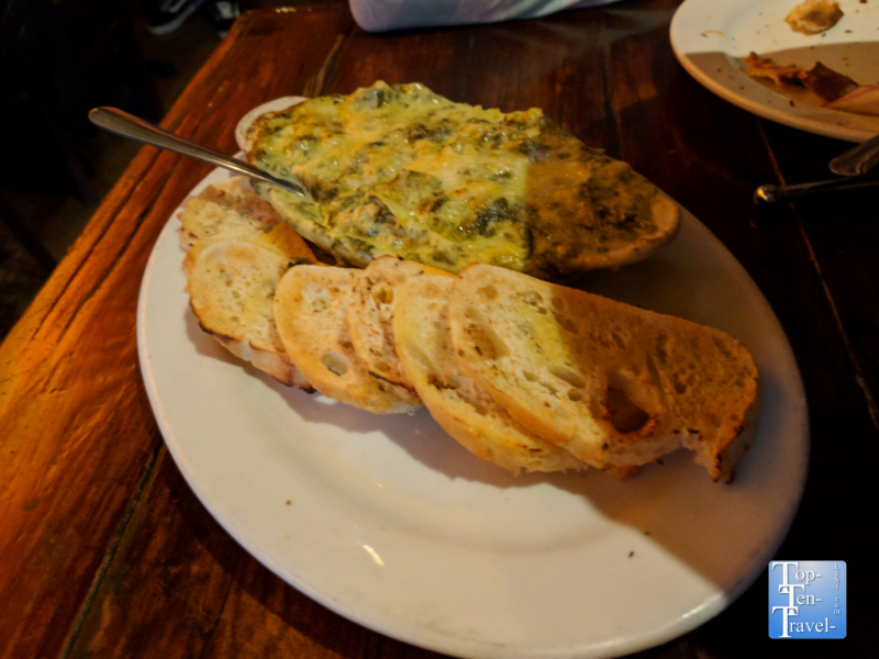Spinach artichoke dip at the Screaming Banshee in Bisbee, Arizona