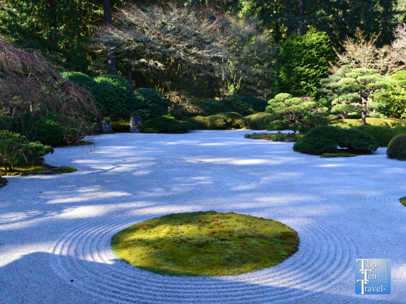Sand and stone garden at the Portland Japanese Garden