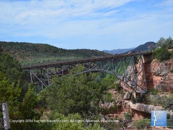 Beautiful Midgley Bridge on Oak Creek Canyon drive