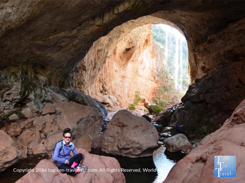 Beautiful views at Tonto Natural Bridge State Park near Payson, Arizona