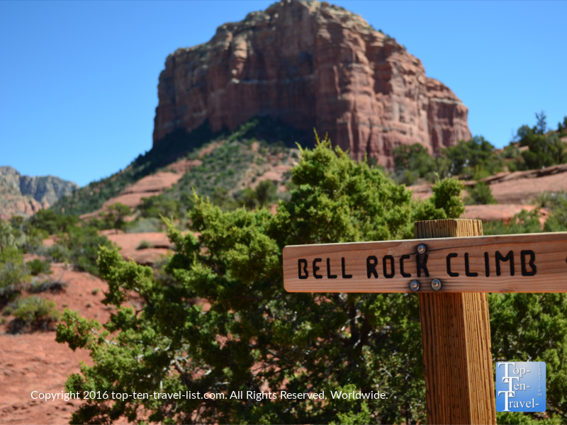 Bell Rock climb in Sedona, Arizona