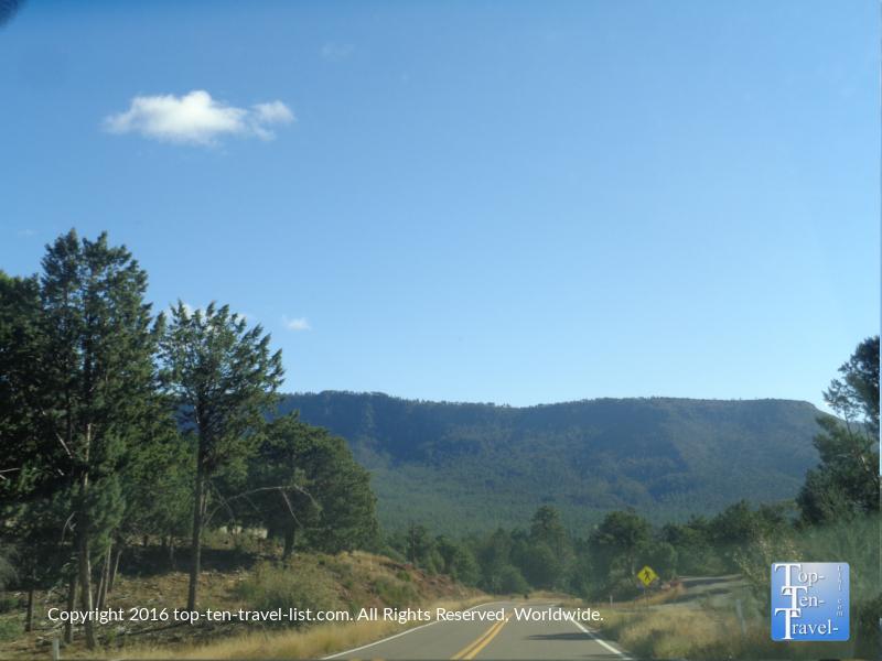 Gorgeous scenery along the Mongollon Rim Drive near Payson, Arizona