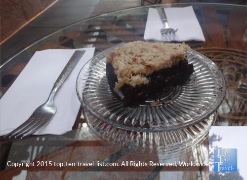 Paleo cake at Paradise Point Cafe in Cottonwood, Arizona