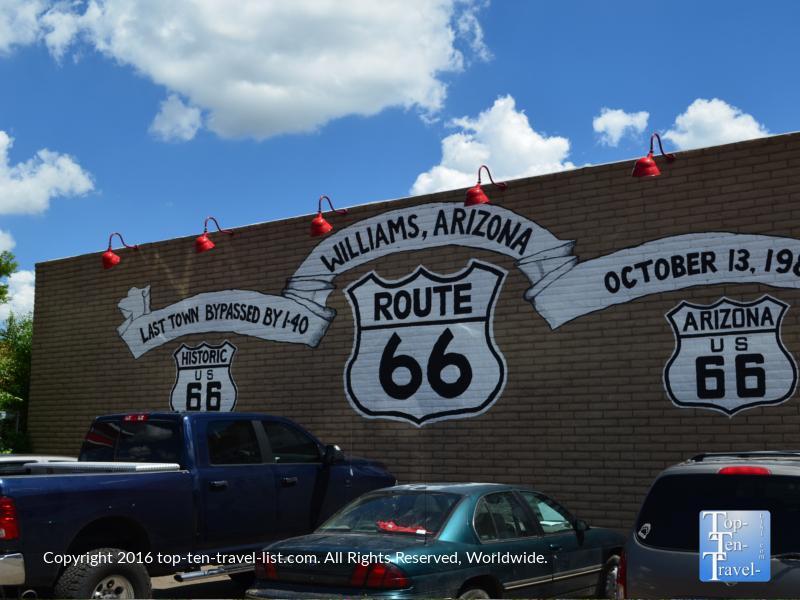 Rt 66 sign in Williams, Arizona