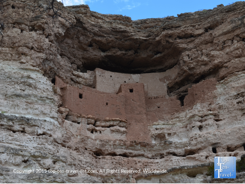 The best preserved ancient cliff dwellings at Montezuma Castle in Arizona