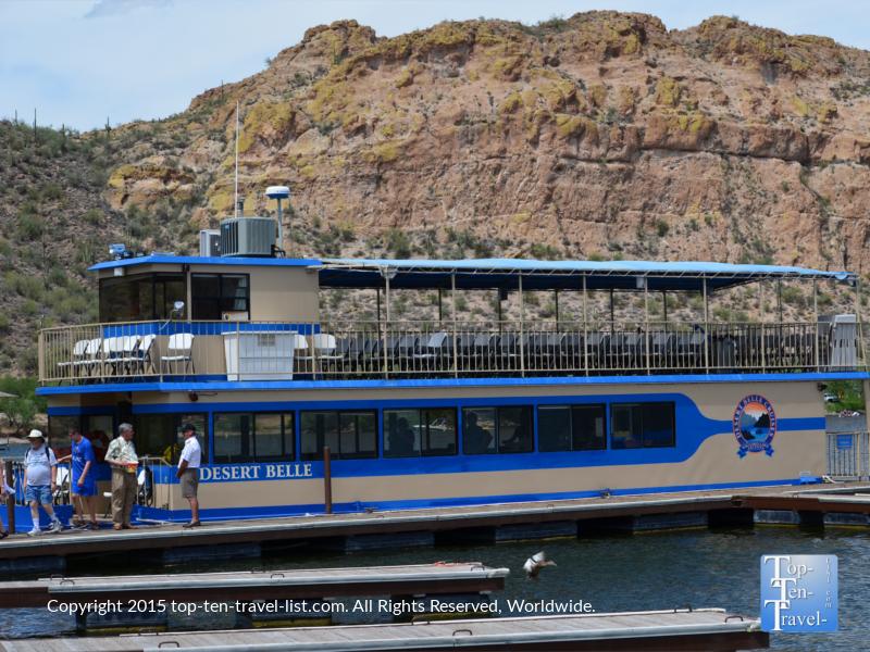 Desert Belle cruise at Saguaro Lake in Arizona