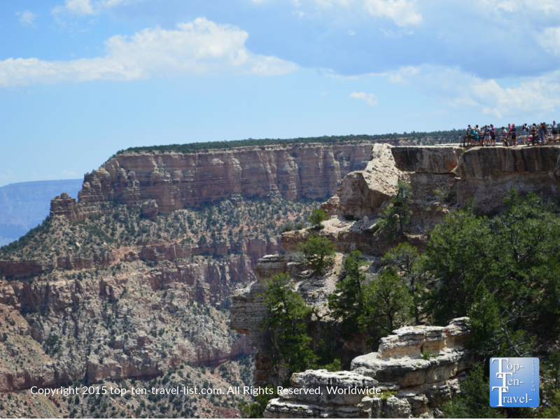 Mather Point overlook at the Grand Canyon South Rim
