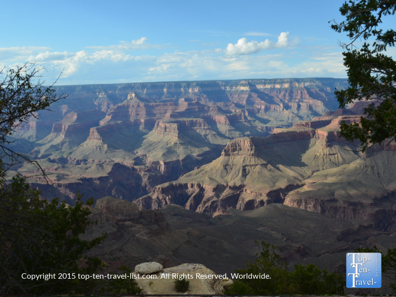 Scenic views from the Rim Trail at the Grand Canyon