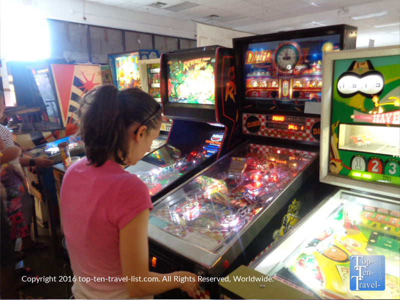 Classic pinball machines at the Pinball Hall of Fame in Las Vegas, Nevada
