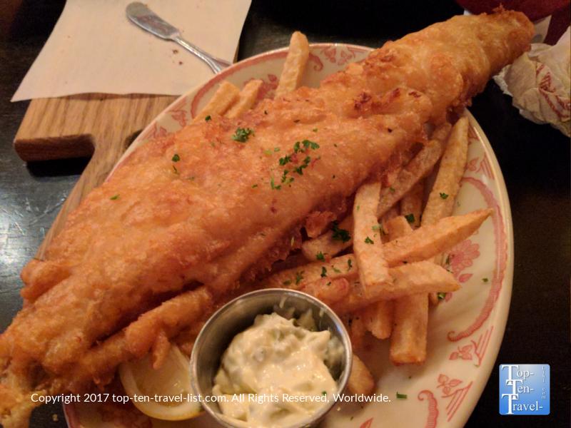 Delicious fish and chips at Ri Ra Irish Pub in Las Vegas, Nevada
