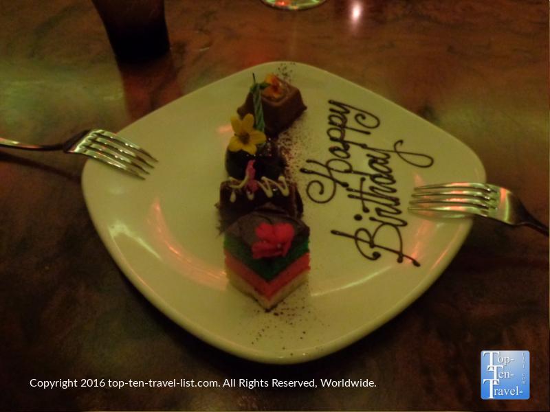 Dessert sampler at Nove Italian at the Palms casino in Las Vegas