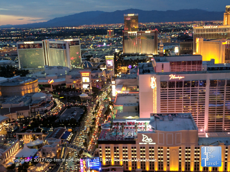 Gorgeous views of The Strip from the Eiffel Tower experience in Las Vegas, Nevada
