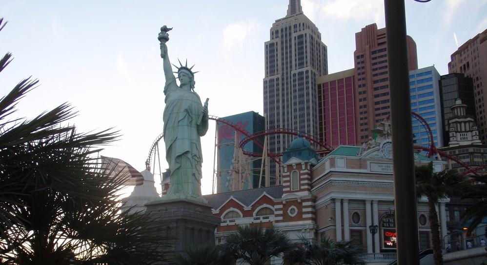 Big Apple Coaster at the NY, NY casino in Las Vegas, Nevada