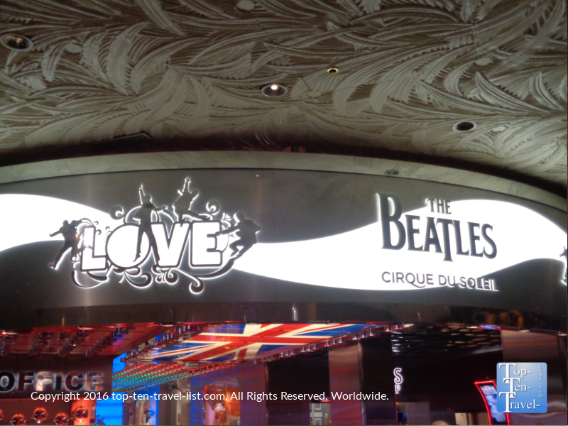 The Beatles Love Cirque du Soleil show at The Mirage in Las Vegas, Nevada