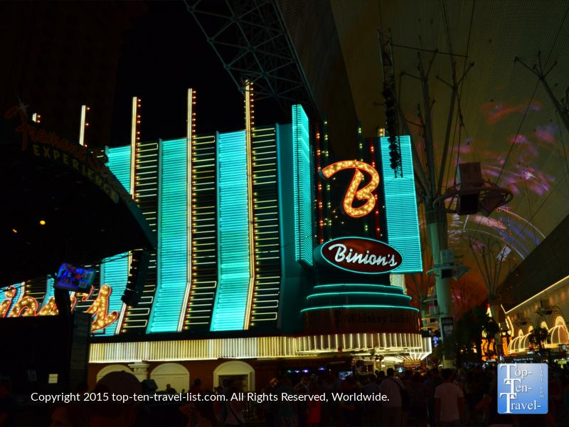 Binion's Casino on Fremont Street in Las Vegas, Nevada