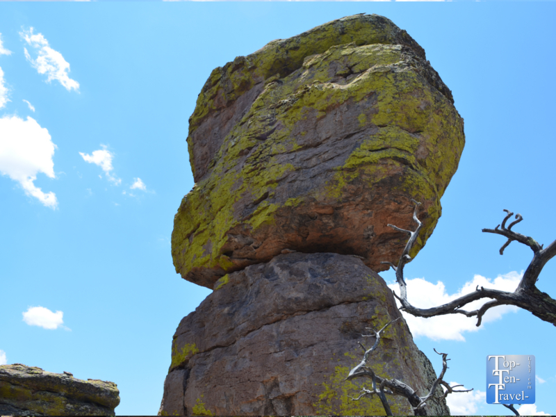 Balancing rocks at Chiricahua National Monument in Southern Arizona