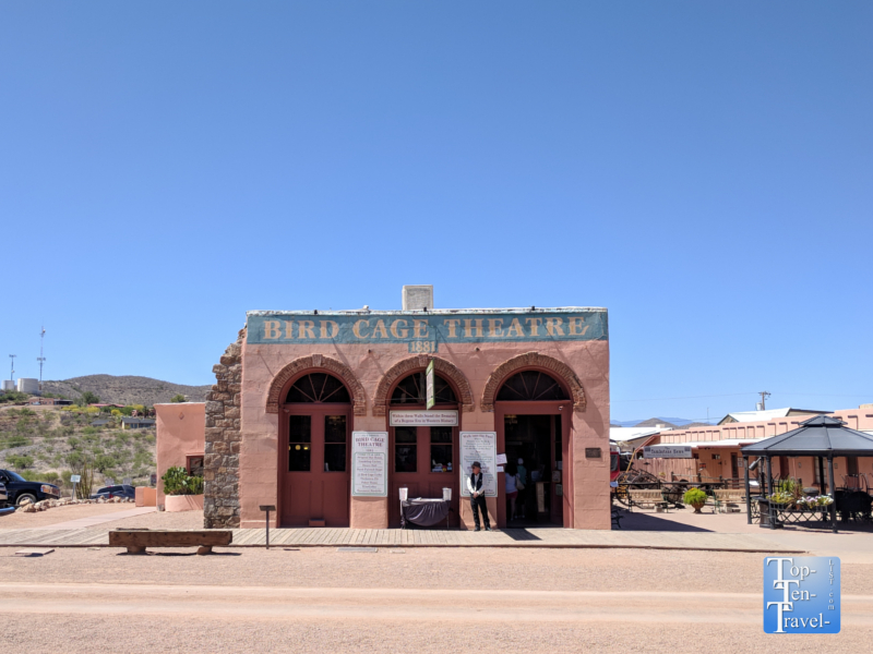 Bird Cage theater in Tombstone, Arizona